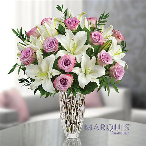 Local florist hot springs ar same day delivery lake hamilton 1 800 flowers marquis by waterford with purple rose and lily bouquet mightylinksfo