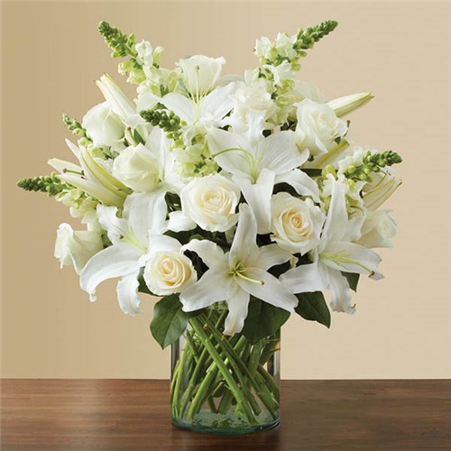 Local florist hot springs ar same day delivery lake hamilton 1 800 flowers classic all white arrangement mightylinksfo
